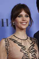 www.acepixs.com<br /> <br /> January 8 2017, LA<br /> <br /> Felicity Jones appeared in the press room during the 74th Annual Golden Globe Awards at The Beverly Hilton Hotel on January 8, 2017 in Beverly Hills, California.<br /> <br /> By Line: Famous/ACE Pictures<br /> <br /> <br /> ACE Pictures Inc<br /> Tel: 6467670430<br /> Email: info@acepixs.com<br /> www.acepixs.com