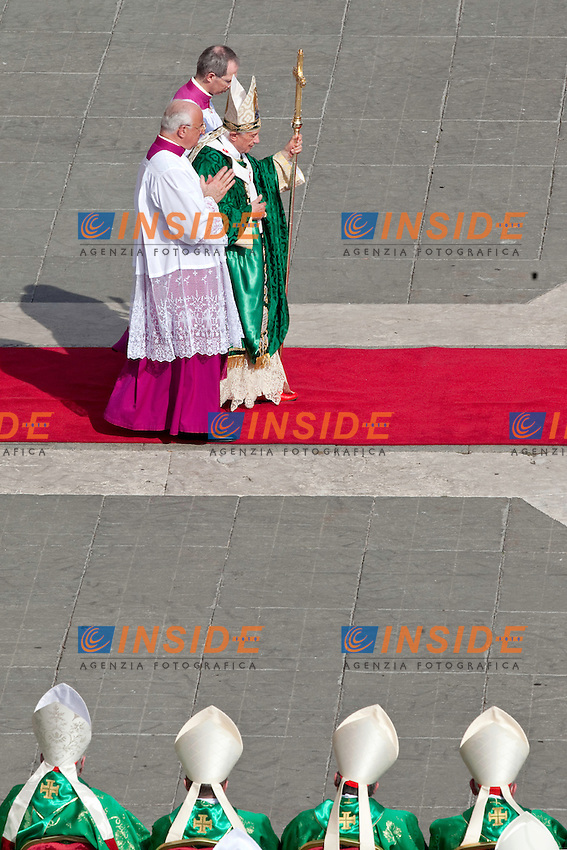 Pope Benedict XVI  leads a mass to announce a new global 'Year of Faith' on October 11, 2012 at St. Peter's square at the Vatican. The Vatican celebrates the 50th anniversary of a Council that changed the face of Catholicism, as it tries to rekindle the religious fervour of the time amid rising secularism
