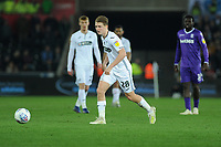 George Byers of Swansea City in action during the Sky Bet Championship match between Swansea City and Stoke City at the Liberty Stadium in Swansea, Wales, UK. Wednesday 09 April 2019