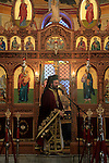 Israel, Lower Galilee, the Greek Orthodox St. George Church in Kafr Cana