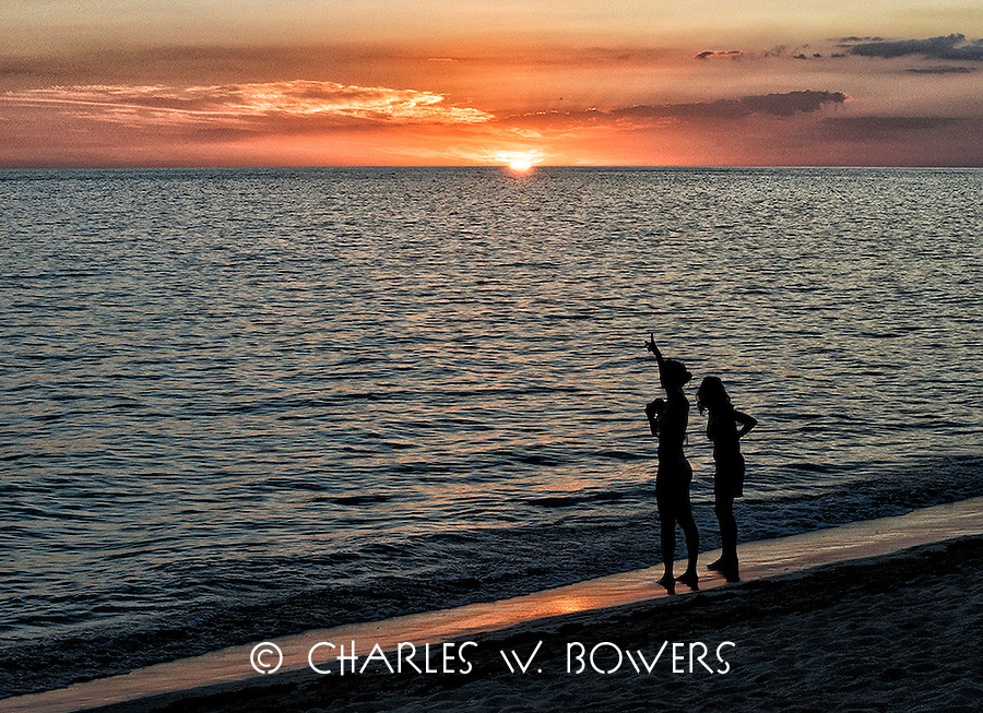 Sunset at the beach - oh look at that<br />