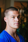 Actor Greg Finley, of Scarborough, poses for a portrait at his home in Burbank, California May 14, 2014.