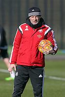 Pictured: Diego Bortoluzzi Thursday 25 February<br /> Re: Swansea City FC training at Fairwood, near Swansea, Wales, UK, ahead of their game against Tottenham Hotspur.