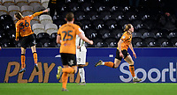 Hull City's Tom Eaves, right, celebrates scoring his side's fourth goal<br /> <br /> Photographer Chris Vaughan/CameraSport<br /> <br /> The EFL Sky Bet Championship - Hull City v Swansea City -  Friday 14th February 2020 - KCOM Stadium - Hull<br /> <br /> World Copyright © 2020 CameraSport. All rights reserved. 43 Linden Ave. Countesthorpe. Leicester. England. LE8 5PG - Tel: +44 (0) 116 277 4147 - admin@camerasport.com - www.camerasport.com