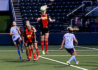 Rochester, NY - May 21, 2016: Western New York Flash midfielder Samantha Mewis (5) during a National Women's Soccer League (NWSL) match at Sahlen's Stadium. The Western New York Flash go on to win 5-2.
