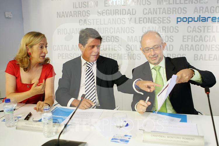 Ana Pastor, Federico Trillo y Cristobal Montoro durante el Comite Ejecutivo Nacional del PP..(ALTERPHOTOS/Acero).