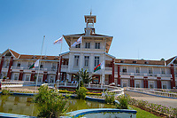 Africa, Madagascar, Ambositra city. Buildings in town.