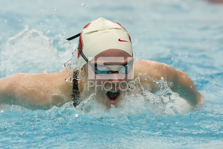STANFORD, CA - JANUARY 22:  Kaia Simmons of the Stanford Cardinal during Stanford's 173-125 win over Arizona on January 22, 2010 at the Avery Aquatic Center in Stanford, California.