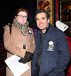 Kate Mulgrew and Brian d'Arcy James attend The Ghostlight Project to light a light and make a pledge to stand for and protect the values of inclusion, participation, and compassion for everyone - regardless of race, class, religion, country of origin, immigration status, (dis)ability, gender identity, or sexual orientation at The TKTS Stairs on January 19, 2017 in New York City.