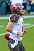 Tampa Bay Buccaneers quarterback Ryan Fitzpatrick (14) during a National Football League game against the Green Bay Packers on December 2nd, 2017 at Lambeau Field in Green Bay, Wisconsin. Green Bay defeated Tampa Bay 26-20. (Brad Krause/Krause Sports Photography)
