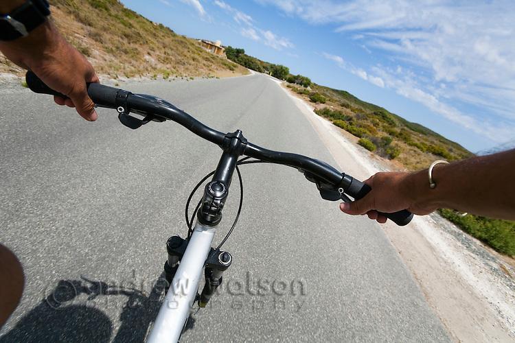 Bike riding on Rottnest Island, Western Australia, AUSTRALIA.