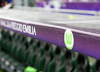 20160526 - REGGIO EMILIA , ITALY : illustration picture showing boarding of Final 2016 Reggio Emilia during a womensoccer match between the teams of  VFL Wolfsburg Frauen and Olympique Lyon , during the final of the Uefa Women Champions League 2015 - 2016 in Stadio citta del tricolore Stadium , Reggio Nell Emilia - Italy , Thursday 26 May 2016 . PHOTO SPORTPIX.BE / DAVID CATRY