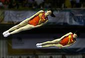 Dan Li y Xingping Zhong de China compiten en gimnasia trampol&radic;&ne;n sincronizado en los Juegos Mundiales 2013 en Coliseo el Pueblo en Cali, Colombia, miercoles 31 de julio 2013. China gano la medalla de oro.<br /> Foto: Coldeportes/Archivolatino<br /> <br /> COPYRIGHT: Coldeportes. Imagen distribuida para difusi&radic;&ge;n de los Juegos Mundiales 2013. Prohibida su venta y uso comercial.
