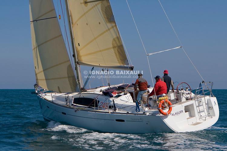 ESP 8078 FALAGUER Emilio Armengod Oliver OCEANIS 40 CN S.Carles de la R&agrave;pita<br /> Salida de la 22 Ruta de la Sal 2009 Versi&oacute;n Este, Denia, Alicante, Espa&ntilde;a