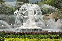 Fountain at Silk Museum, Hangzhou, China