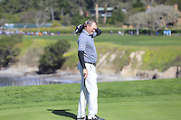 Jerry Kelly (USA) on the 6th green at Pebble Beach Golf Links during Saturday's Round 3 of the 2017 AT&amp;T Pebble Beach Pro-Am held over 3 courses, Pebble Beach, Spyglass Hill and Monterey Penninsula Country Club, Monterey, California, USA. 11th February 2017.<br /> Picture: Eoin Clarke | Golffile<br /> <br /> <br /> All photos usage must carry mandatory copyright credit (&copy; Golffile | Eoin Clarke)