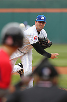 Buffalo Bisons pitcher Matt Harvey #43 during a game against the Pawtucket Red Sox at Coca-Cola Field on April 15, 2012 in Buffalo, New York.  Buffalo defeated Pawtucket 10-9 in ten innings.  (Mike Janes/Four Seam Images)
