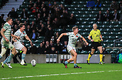 7th December 2017, Twickenham Stadium, London, England; The Varsity Match, Cambridge versus Oxford;  Chris Bell celebrates scoring the opening try for Cambridge in the 30th minute