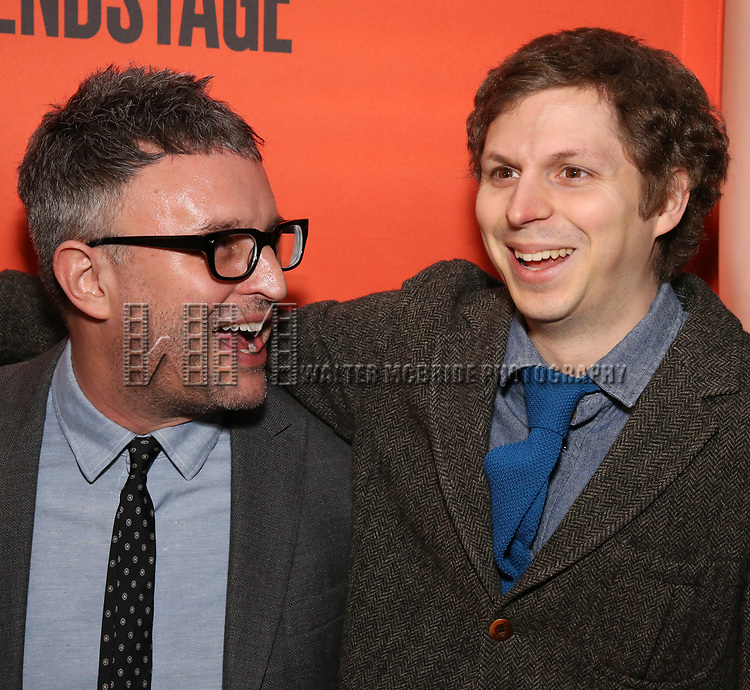 Trip Cullum and Michael Cera attends the the Broadway Opening Night Performance After Party for 'Lobby Hero' at Bryant Park Grill on March 26, 2018 in New York City.