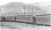 Coach #281 built by Jackson &amp; Sharp in 1880 as #57 &quot;Tularosa.&quot;  Renumbered to #281 in 1885.<br /> D&amp;RGW  Salida, CO  Taken by Axt, Vernon - 7/1940