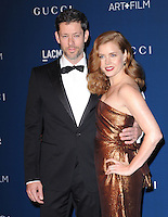 LOS ANGELES, CA - NOVEMBER 02: Darren Le Gallo &amp; Amy Adams at  LACMA 2013 Art + Film Gala held at LACMA  in Los Angeles, California on November 2nd, 2012 in Los Angeles, CA., USA.<br /> CAP/DVS<br /> &copy;DVS/Capital Pictures