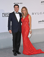 John Travolta &amp; Kelly Preston  at the 21st annual amfAR Cinema Against AIDS Gala at the Hotel du Cap d'Antibes.<br /> May 22, 2014  Antibes, France<br /> Picture: Paul Smith / Featureflash