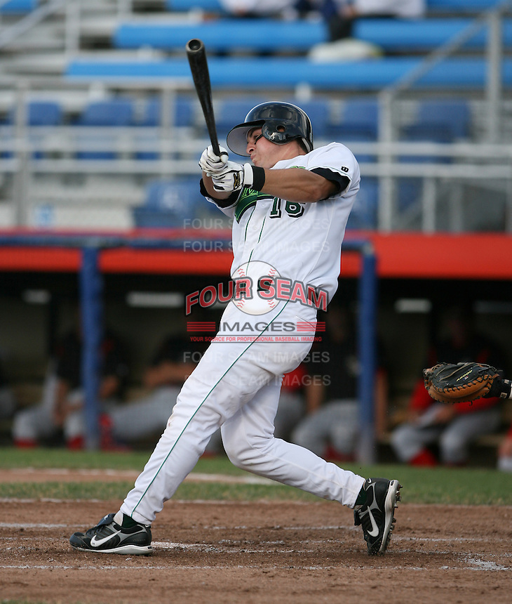 Ryan Anetsberger of the Jamestown Jammers, Class-A affiliate of the Florida Marlins, during New York-Penn League baseball action.  Photo by Mike Janes/Four Seam Images