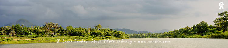 Perfume River at sunset, panoramic view ( Licence this image exclusively with Getty: http://www.gettyimages.com/detail/83154166 )