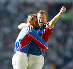 Rangers v Celtic 10.3.02: Arthur Numan celebrates his goal for Rangers.