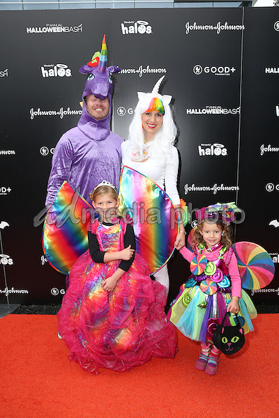 30 October 2016 - Hollywood, California - Ian Ziering,  Erin Ludwig, Mia Ziering, Penna Ziering. GOOD+ Foundation 1st Annual Halloween Bash held at Sunset Gower Studios. Photo Credit: PMA/AdMedia