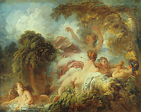 Jean H. Fragonard 1732-1806.  Les baigneuses.   Louvre. Reference only.