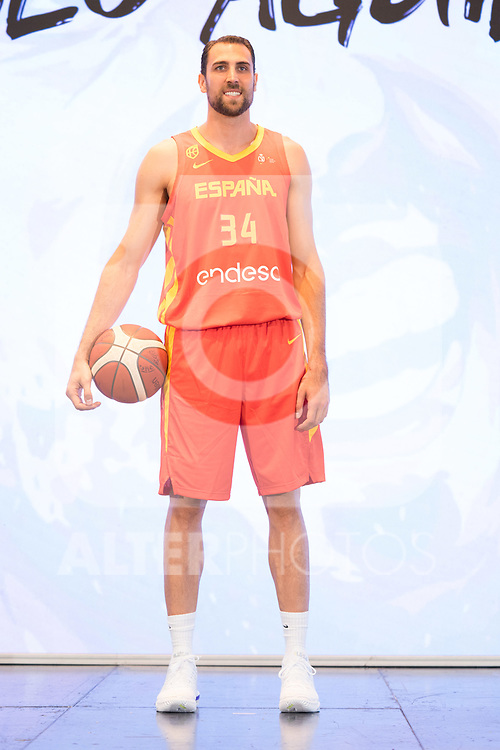 Player Pablo Aguilar during the official presentation of Spanish National Team of Basketball.  July 24, 2019. (ALTERPHOTOS/Francis Gonzalez)