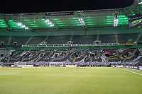 Choreographie der Fans fordert die Teilnahme an der EM-Endrunde in London 2020 - 16.11.2019: Deutschland vs. Weißrussland, Borussia Park Mönchengladbach, EM-Qualifikation DISCLAIMER: DFB regulations prohibit any use of photographs as image sequences and/or quasi-video.