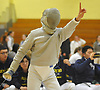 Jonathan Sheng of Jericho reacts in the final bout of the boys fencing Long Island Championship against Ward Melville at Jericho High School on Tuesday, Feb. 6, 2017.
