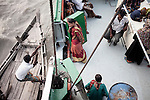 woman waiting to get  a surgery onboard of the Rongdhonu Friendship Hospital docked outside the mongla port 29 April 2014