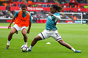 10th September 2017, Liberty Stadium, Swansea, Wales; EPL Premier League football, Swansea versus Newcastle United; Renato Sanches of Swansea City warms up before the match