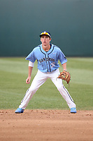 Trevor Rosenberg (36) of the University of San Diego Toreros in the field during a game against the UCLA Bruins at Jackie Robinson Stadium on March 4, 2017 in Los Angeles, California.  USD defeated UCLA, 3-1. (Larry Goren/Four Seam Images)