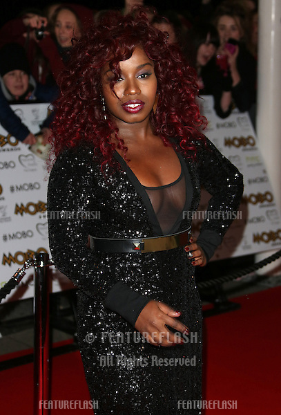 Mischa B arriving for The MOBO awards 2012 held at the Echo Arena, Liverpool. 03/11/2012 Picture by: Henry Harris / Featureflash