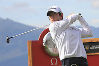 Noh Seung-yul (KOR) on the 18th during the 1st day of the Omega European Masters, Crans-Sur-Sierre, Crans Montana, Switzerland..Picture: Golffile/Fran Caffrey..