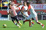 Atletico Junior perdio en casa 2x3 con independiente Santa fe en el la liga postobon torneo apertura del futbol colombiano