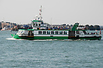 The Gosport Ferry in Portsmouth Harbour, Hampshire, England
