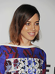 LOS ANGELES, CA- MAY 05: Actress Aubrey Plaza arrives at Tribeca Film's 'Palo Alto' - Los Angeles Premiere at the Director's Guild of America on May 5, 2014 in Los Angeles, California.