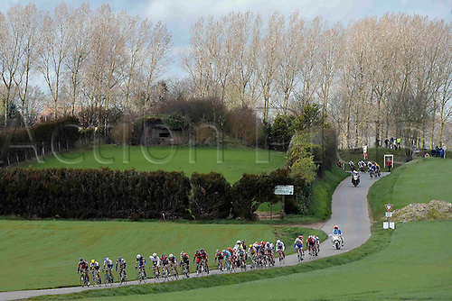27.03.2016. Deinze, Belgium.  the peloton is riding through Flemish landscapes during the Flanders Classics UCI World Tour 78nd Gent-Wevelgem cycling race with start in Deinze and finish in Wevelgem