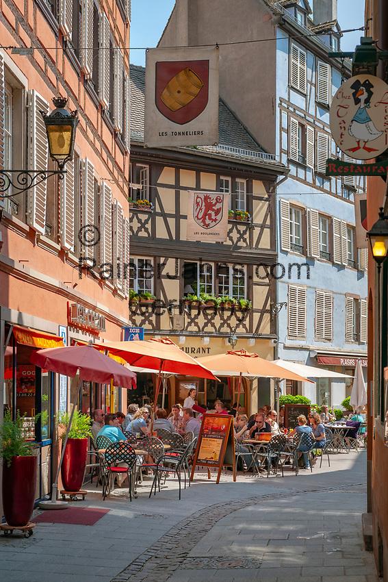 France, Alsace, Department Bas-Rhin, Strasbourg: Tanner's Quarter - La Petite France   Frankreich, Elsass, Départements Bas-Rhin, Strassburg: das Gerberviertel, La Petite France - Klein Frankreich