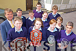 AWARDS: Students of St Joseph's Secondary School in Ballybunion receiving their achievement awards for the past school year, front l-r: Keith Francis, Sinead Breen, Norma Houlihan, Aaron Farrell. Back l-r: John O'Donovan (Principal), Killian Lynch, Wayne Jones, Padraig Buckley, Sarah Larkin, Brendan Treacey, Joanne Gallagher (Teacher).