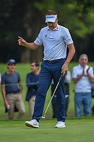 Ian Poulter (GBR) after sinking his birdie putt on 15 during round 3 of the World Golf Championships, Mexico, Club De Golf Chapultepec, Mexico City, Mexico. 2/23/2019.<br /> Picture: Golffile | Ken Murray<br /> <br /> <br /> All photo usage must carry mandatory copyright credit (© Golffile | Ken Murray)