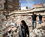 Images of the earthquake in Lorca near Murcia, on May 12, 2011 a day after a magnitude 5.1 quake Killed at least nine people, toppling buildings Into the streets and sending panicked residents Fleeing. Workers and emergency army pitched tents and handed out food to Thousands of evacuated after a 5.1-magnitude quake killer smashed-through the historic Spanish city. Nine people, Including a Child, perished when to Spain's Deadliest Quake in More Than 50 years rocked the southeastern city of Lorca, the Regional Government of Murcia said (c) Pedro ARMESTRE.