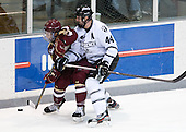 Steven Whitney (BC - 21), Myles Harvey (PC - 44) - The Providence College Friars tied the visiting Boston College Eagles 3-3 on Friday, December 7, 2012, at Schneider Arena in Providence, Rhode Island.
