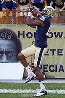 Pitt wide receiver Devin Street makes a 34-yard touchdown catch. The Pitt Panthers defeated the Gardner-Webb Runnin Bulldogs 55-10 at Heinz Field, Pittsburgh PA on September 22, 2012..
