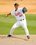 9 March 2007: Baltimore Orioles pitcher Jeremy Guthrie on the mound against the Washington Nationals at Fort Lauderdale Stadium in Fort Lauderdale, Florida. <br /> <br /> Mandatory Photo Credit: Ed Wolfstein Photo